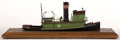 Maritime:Decorative Art, TUGBOAT MODEL OF 'NY CENTRAL NO.10'. A well detailed modelpresented on wood base.. 10 x 26 x 10 inches (25.4 x 66.0 x 25.4...