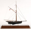Maritime:Decorative Art, MODEL OF AMERICA'S CUP YACHT 'MAYFLOWER'. The sloop 'Mayflower' wasthe second America's Cup defender designed by Edward Bur...