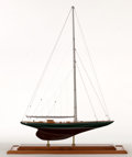 Maritime:Decorative Art, MODEL OF AMERICA'S CUP YACHT 'SHAMROCK V'. The Shamrock V was built1930 for Sir Thomas Lipton's fifth and last America's Cu...