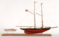 Maritime:Decorative Art, SHIP MODEL OF THE 'BENJAMIN W. LATHAM'. The Benjamin W. Latham wasa double-masted fishing schooner launched in 1902 from Es...