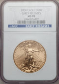 Modern Bullion Coins, 2008 G$50 One-Ounce Gold Eagle, Early Releases MS70 NGC. NGCCensus: (0). PCGS Population (190). (#393103)...