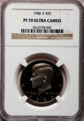 Proof Kennedy Half Dollars: , 1986-S 50C PR70 Ultra Cameo NGC NGC Census: (63). PCGS Population(174). Numismedia Wsl. Price for problem free NGC/PCGS c...