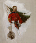 Mainstream Illustration, DEAN CORNWELL (American, 1892-1960). Canadian Mountie,Cosmopolitan magazine story illustration, May 1919. Oil oncanvas...