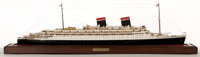 """SHIP MODEL OF THE OCEAN LINER SS 'CONTE DI SAVOIA' Considered exceptionally beautiful, the Conte di Savoia (""""Count..."""