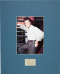 Music Memorabilia:Autographs and Signed Items, Elvis Presley: Two Back-to-Back Autographs in a Matted Display (1950s)....
