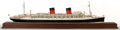 Maritime:Decorative Art, SEALINE MODEL OF THE OCEAN LINER 'ILE DE FRANCE' . The SS Ile deFrance was the first major ocean liner built after the conc...