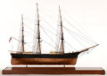 Maritime:Decorative Art, SHIP MODEL OF THE CLIPPER 'SWORDFISH'. American Marine and ShipModel Gallery, Salem MA. 'Swordfish' was an 1852 clipper shi...