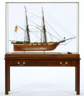 Maritime:Decorative Art, SCALE MODEL OF USS 'WASHINGTON'. Built in 1813, the USS'Washington' was a ship-of-the-line of the United States Navyservin... (Total: 2 Items)