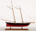 Maritime:Decorative Art, MODEL OF AMERICA'S CUP YACHT 'AMERICA II'. Presented on wood base..18 x 22 x 6 inches (45.7 x 55.9 x 15 cm). ...