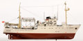 Maritime:Decorative Art, MODEL OF A RUSSIAN RESEARCH VESSEL. Presented on wooden stand.. 13x 23 inches (33.0 x 58.4 cm). ...