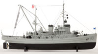 MODEL OF THE USS 'APACHE' USS 'Apache' was a fleet ocean tug as commissioned by the US Navy from 1942 to 1946 and