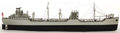 """Maritime, A SCALE SHIP MODEL OF THE FREIGHTER """"CAPTAIN DEACON HANNAH"""". 8-1/2x 4-1/2 x 32 inches (21.6 x 11.4 x 81.3 cm). Built from a..."""