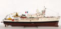 Maritime:Decorative Art, MODEL OF COUSTEAU'S 'CALYPSO' . The 'Calypso', a British Royal Navyminesweeper turned research vessel, is famous for havin...