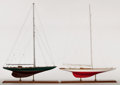 Maritime:Decorative Art, AMERICA'S CUP YACHTS 'RANGER I' AND 'SHAMROCK II'. Two famousAmerica's Cup challengers. The 'Shamrock II' competed in the 1...(Total: 2 Items)