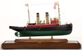 Maritime:Decorative Art, SHIP MODEL OF THE 'HERCULES'. A fine model of a coastal streamvessel by William Hitchcock.. Presented in wood and glass cas...