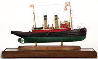 SHIP MODEL OF THE 'HERCULES' A fine model of a coastal stream vessel by William Hitchcock. Presented in wood an