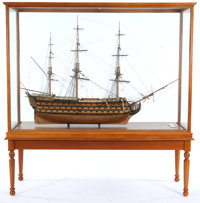 SHIP MODEL OF THE HMS 'VICTORY' The famous flagship of legendary Vice Admiral Horatio Lord Nelson. This is the shi