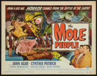 "The Mole People (Universal International, 1956). Autographed Title Lobby Card (11"" X 14""). Science Fiction..."