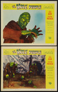 "Movie Posters:Science Fiction, The Mole People (Universal International, 1956). Lobby Cards (2)(11"" X 14""). Science Fiction.. ... (Total: 2 Items)"