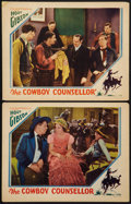 "Movie Posters:Action, The Cowboy Counsellor (Allied Pictures, 1932). Lobby Cards (2) (11""X 14""). Action.. ... (Total: 2 Items)"