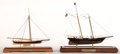 Maritime:Decorative Art, TWO SCALE MODELS OF THE RACING YACHTS 'MARIA' AND 'AMERICA'. The'Maria', in 3/32 scale by Bobb Tomsett. The 'America', in 1...(Total: 2 Items)