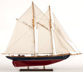 Maritime:Decorative Art, A PAIR OF MODEL SAILBOATS. Two attractive, fully rigged sailboatmodels offered as a pair.. Presented on separate wooden sta...(Total: 2 Items)