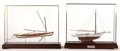 Maritime:Decorative Art, TWO SAILING VESSEL SCALE MODELS. Two elegantly modeled sailingvessels offered as a pair. 'Little Hattie', circa 1900, is b...(Total: 2 Items)