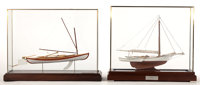 TWO SAILING VESSEL SCALE MODELS Two elegantly modeled sailing vessels offered as a pair. 'Little Hattie', circa 19