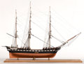 Maritime:Decorative Art, SHIP MODEL OF THE USS 'CONSTITUTION'. American Marine and ShipModel Gallery, Salem MA. Presented on wood base.. 29 x 36 x 1...