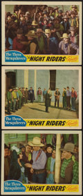 "Movie Posters:Western, The Night Riders (Republic, 1939). Lobby Cards (3) (11"" X 14"").Western.. ... (Total: 3 Items)"
