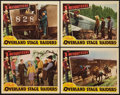"""Movie Posters:Western, Overland Stage Raiders (Republic, 1938). Lobby Cards (4) (11"""" X 14""""). Western.. ... (Total: 4 Items)"""