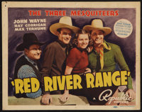 "Red River Range (Republic, 1938). Title Lobby Card (11"" X 14""). Western"