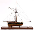 Maritime:Decorative Art, SHIP MODEL OF HMS 'SHEARWATER'. American Marine and Ship ModelGallery, Salem MA. A Royal Navy cutter, circa 1815, active th...