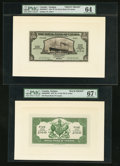 Canadian Currency: , Saint John's Antigua- The Royal Bank of Canada $5 (£1-0-10) January 3, 1938 Ch. # 630-26-02FP/BP Face/Back Proofs. ... (Total: 2 notes)