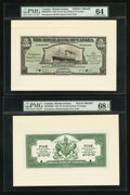 Canadian Currency: , Georgetown, British Guiana- The Royal Bank of Canada $5 (£1-0-10)January 2, 1920 Ch. # 630-36-02FP/BP Face/Back Proofs. ... (Total:2 notes)