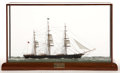 Maritime:Decorative Art, SCALE SEALINE MODEL OF THE 'CUTTY SARK'. Modeled by Paul S. Reed in3/64 scale.. Presented in wood and glass case.. 12 x 19 ...