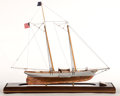 Maritime:Decorative Art, MODEL OF AN AMERICAN SAILING VESSEL. Presented in wood and glasscase.. 28 x 24 x 9 inches (71.1 x 61.0 x 22.9 cm). ...
