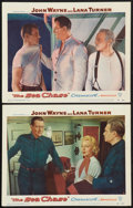 """Movie Posters:War, The Sea Chase (Warner Brothers, 1955). Lobby Cards (2) (11"""" X 14"""").War.. ... (Total: 2 Items)"""