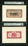 Canadian Currency: , Port of Spain, Trinidad- The Royal Bank of Canada $20 (£4-3-4)January 3, 1938 Ch. # 630-68-04FP/BP Face/Back Proofs. ... (Total:2 notes)