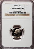Proof Roosevelt Dimes: , 1983-S 10C PR69 Ultra Cameo NGC NGC Census: (540/162). PCGSPopulation (3005/176). Numismedia Wsl. Price for problem free ...