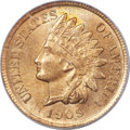 Indian Cents, 1909-S 1C MS65 Red PCGS. CAC....