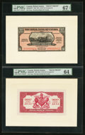Canadian Currency: , Georgetown, British Guiana- The Royal Bank of Canada $20 (£4-3-4)January 3, 1938 Ch. # 630-38-04FP/BP Face/Back Proofs. ... (Total:2 notes)