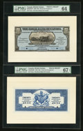 Canadian Currency: , Georgetown, British Guiana- The Royal Bank of Canada $20 (£4-3-4)January 2, 1920 Ch. # 630-36-04FP/BP Face/Back Proofs. ... (Total:2 notes)