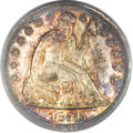 Proof Seated Dollars, 1854 $1 PR64 Cameo PCGS. CAC....