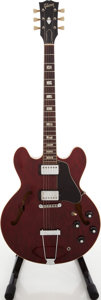 Musical Instruments:Electric Guitars, Circa 1971 Gibson ES-335TD Wine Red Semi-Hollow Body ElectricGuitar, Serial # 807249....