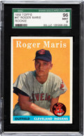 Baseball Cards:Singles (1950-1959), 1958 Topps Roger Maris #47 SGC 96 Mint 9 - Pop Two, None Higher!...