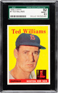 Baseball Cards:Singles (1950-1959), 1958 Topps Ted Williams #1 SGC 92 NM/MT+ 8.5 - None Higher! ...