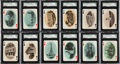 Non-Sport Cards:Sets, 1904 Chisholm Historic Boston Playing Cards SGC-GradedComplete Set (55). ...