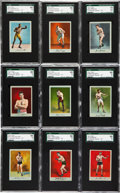 """Boxing Cards:General, 1910 T225 """"Prizefighter Series No. 101"""" Complete Set (25) - #2 on the SGC Set Registry. ..."""