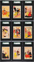 "Non-Sport Cards:Sets, 1896 E231 ""Yellow Kid Chewing Gum"" Complete Set (25) - #1 on theSGC Set Registry!..."